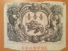 Vignette - ARMES DE LYON - PETRUS FABER - Le Soleil au Signe du Lion - 1622
