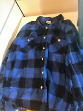 Rothco Heavy Weight Plaid Flannel Shirt, Blue 4XL (Lightly Used)