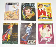 Lot de 6 Carte Postale Reproduction Affiche Publicitaire Ancienne Pub b