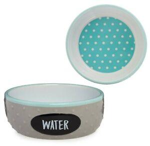 """Top Paw® """"Water"""" Textured Ceramic Dog Bowl - (1) 20 oz Food & Water Dish"""