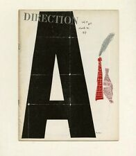 1941 Paul Rand classic collage cover DIRECTION Magazine: Art In Industry Issue