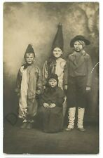 RPPC Halloween Costumes Children Witches Real Photo Postcard