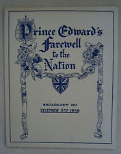 Prince Edward's Farewell to the Nation Broadcast/11th December 1936/Speech
