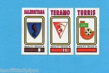 PANINI CALCIATORI 1978/79-Figurina n.523- SALERNITANA+TERAMO+TURRIS-SCUDETTO-Rec