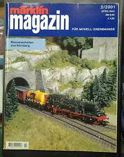 MÄRKLIN MAGAZIN   N° 2 / 2001 EN LANGUE ALLEMANDE - BON ETAT - 121 pages