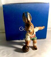 "Goebel Bavarian Bunnies 5"" Boy Bunny Bowling In Original Box"