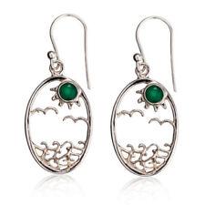 Emerald Cubic Zirconia Fine Earrings