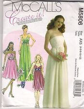 McCalls Sewing Pattern 5806, Evening Dress Variations, Size 4 -12,  Uncut