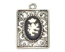"""Wedgwood Jewelry- Wedgwood Cameo in Pendant """"Lion w/Crown"""""""