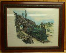 Leslie L Chevalier Hand Colored Print Colorado Midland Engine #18 Caboose #407