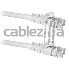 50FT Cat6 White Patch Cord Cable 500Mhz Network Ethernet Router LAN Switch