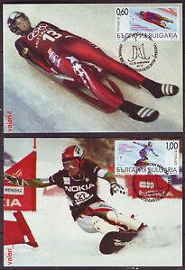 2010 Bulgaria Sport XXI Winter Olympics Vancouver 2 x Maxicards Snowboarding