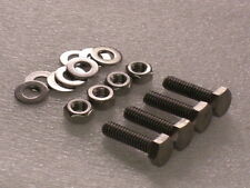 """4x 1/4 BSW x1"""" Whitworth Stainless Hex Bolts Nuts Washer VINTAGE CAMERA TRIPOD"""