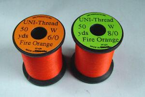 1x50 yards Fil montage ORANGE 6-0/8-0 truite mouche mouche fly tying thread