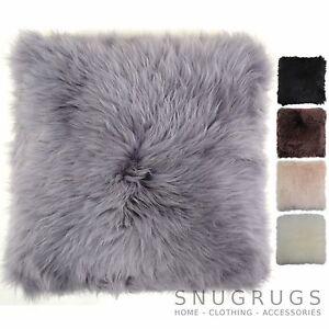 SNUGRUGS - de Lujo 100% Suave Piel de Oveja Cojines / Almohada & Cojín Interior