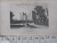 C1830 Antico Stampa Drayton Manor Staffordshire Sedile Di Sir Robert Peel