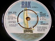 """HOT CHOCOLATE - NO DOUBT ABOUT IT    7"""" VINYL"""