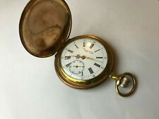 ANTIQUE RUGBY WATCH POCKET WATCH PERFECT WORKING WHITE DIAL