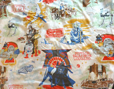 Vintage 1983 STAR WARS Waterbed Fitted & flat Sheet EMPIRE JEDI HUGE!