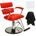 New Extra Wide Red Hydraulic Barber Chair Styling Beauty Salon Spa Equipment
