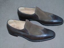 Joseph Cheaney Mens Chester slipon Shoe Brown Calf Leather Mocca suede Size 7.5F
