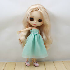 """Takara 12""""Blythe Doll Factory Outfit 1 pcs blue long dress new sale 2016 limited"""