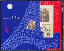 France 1999 Mona Lisa/da Vinci/Art/Artists/StampEx  3v m/s + ticket Pack n45410c
