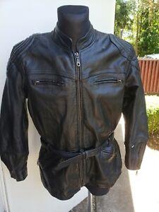 Halvarssons Motorcycle Premium All Season Black Leather Jacket XL 44