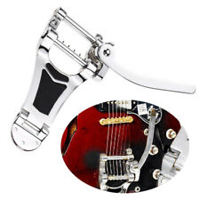 More details for chrome tremolo vibrato tailpiece bridge hollow body for les paul guitar tool ^uk