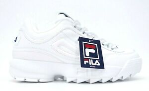 FILA Disruptor II Premium Mens White Fashion Shoes Sneakers Size US 10 EU 43