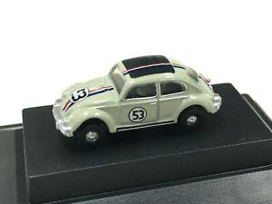 Volkswagen Beetle White Herbie the love bug Diecast VW 1:148 N Scale Oxford