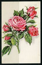 FRANCE  EXPOSITION OF 1937  CANCELED ROSES  POSTCARD TO LONDON