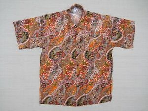 Hawaiihemd Hawaii Hawai Hemd orange Blumen Paisley