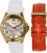 New GUESS Ladies Watch Rubber Leather U0422L2 BNWT CAD