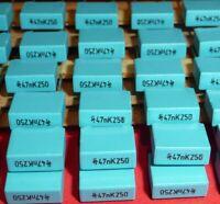 20x org. Siemens 47nF 250V RM 7,5 MKT Kondensator Vintage Audio etc. NOS