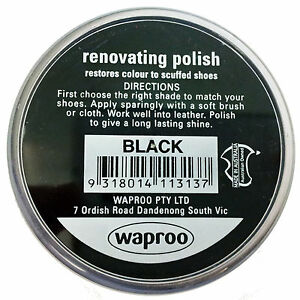 Waproo Renovating Shoe Polish Cream - over 20 Colors ( Over 1400 SOLD) AU SELLER