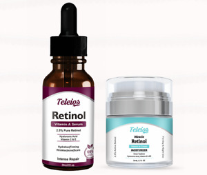 Pure Retinol Vitamin A Serum + Cream Anti-Aging Collagen Lift & Fine Lines