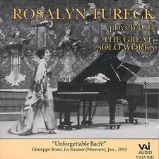 Rosalyn Tureck - Rosalyn Tureck Plays Bach: Great Solo Works [New CD]