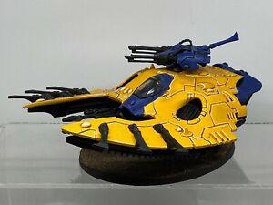 Warhammer 40,000 - Eldar Iyanden Wave Serpent with Shuriken Cannons painted