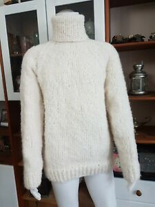 Mohair Pullover Sweater creme weiß