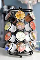 K-cup Coffee Pod Storage spinning Carousel Holder - 24 ct, Black Rack