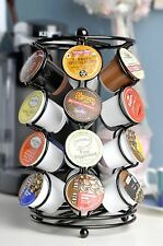 K-cup Coffee Pod Storage spinning Carousel Holder - 24 ct, Black Rack