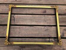 More details for nice quality floral corner ornate gilt picture frame !
