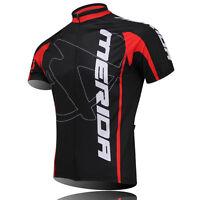MERIDA Men's Cycling Jerseys Bike Clothing Short Sleeve Shirt Cycling Tops Red