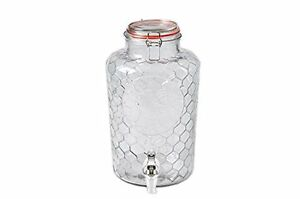 Palais Glassware Beverage Dispenser - Bail & Trigger Lid - 2 Gallon (Rooster)