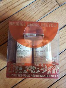 The Body Shop Vanilla Spice Gift Set Shower Gel Body Lotion Shimmer Soap