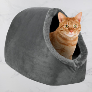 Pet Cave Hideout Bed Puppy Cat Soft Padded Comfortable Cosy 40cm x 34cm x 34cm