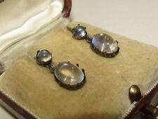 Excelente, Victoriano, pendientes de plata con gemas Fino Piedra Lunar
