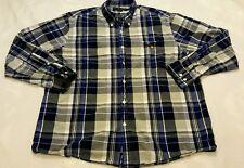 Men's sz XL Vintage US Polo Assn LS Button Up Blue Multi Plaid Shirt