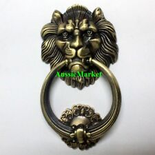 1 x door knocker knock lions head handle knob hanger home decor screws man cave